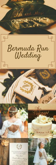 Elegant and Simple Bermuda Run Wedding Theme   Gold and Brown Wedding Motif Color   Gorgeous and Beautiful Wedding Photo Shoot