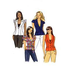 594 Butterick B5331 Womens Unlined Vest Jacket by ladydiamond46