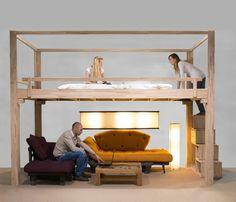 Lit Mezzanine Adulte Et Aménagement De Petits Espaces Pinterest - Lit superpose pour adulte