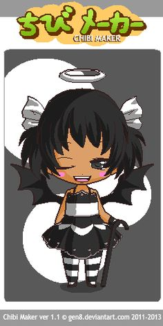 This is Demon Darling. Half Angel Half Demon, Chibi Maker, Anime, Art, Art Background, Anime Shows, Kunst, Anime Music, Animation