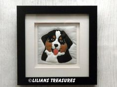 Bernese Mountain Dog puppy : Hand quilted picture
