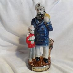 Jim Beam Whiskey Decanter Seaman And Son-Wiskey Bottle Regal China-Jim Beam Collector Whisky Bottle by BCScollectibles on Etsy Whiskey Decanter, Navy Mom, Jim Beam, Vintage Bar, Whisky, Beams, Going Out, Bottles, Decoration