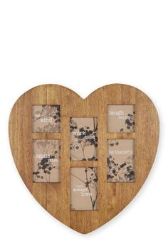 Buy 6 Aperture Wooden Heart Frame from the Next UK online shop