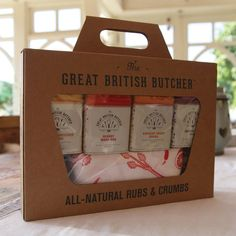 all natural rubs and crumbs giftset by the great british butcher | notonthehighstreet.com