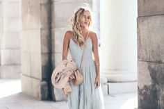 Angelica Blick dress blue white outfit