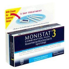 Monistat 3 Vaginal Antifungal 3-Day Treatment Combination Pack --- http://www.amazon.com/Monistat-Vaginal-Antifungal-Treatment-Combination/dp/B0009Q634M/?tag=mlpoller-20