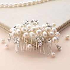 Dew Pearl Hair Comb Flower Hair Accessories by jewellerymadebyme