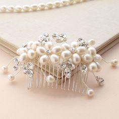 Dew Pearl Hair Comb Flower Hair Accessories by jewellerymadebyme