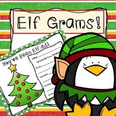 #elfgrams #elves #grams #Christmas #Activity #writing #elementary #secondary #holiday