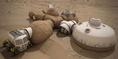 Nasa just announced it has found liquid water on Mars. On Sunday, the space agency announced the winners of its habitat challenge at the New York Maker Faire - structures that could actually be used to live Mars. Norman Foster, Impression 3d, Mars Colony, La Colonisation, Materials And Structures, Space Colony, Space Projects, Space Crafts, Life On Mars