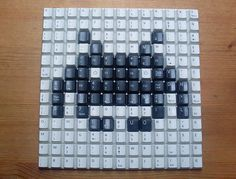 Space Invaders Keyboard Mosaics: CTRL-ALT-ATTACK