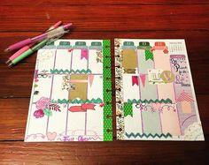 """This weeks spread before the ink. #weeklyspread #planneraddict #nynjplannersgroup #nynjplannergirl #washitapes #gelpens #plannergirl #lovedoki…"""