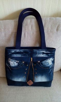 Mochila Hippie, Denim Purse, Tote Purse, Denim Bag Patterns, Blue Jean Purses, Leather Wallet Pattern, Recycled Denim, Patchwork Bags, Fabric Bags