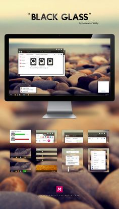 Black Glass Theme for Windows 7 Glass Theme, Desktop Design, Black Glass, Windows, Bugs, Tech, Deviantart, Beetle, Window