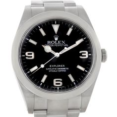 Rolex Explorer I Stainless Steel Mens Watch 214270