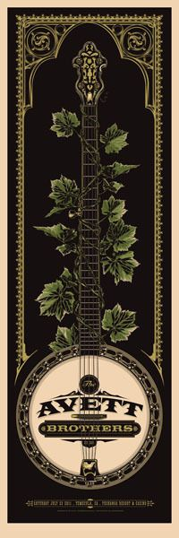 Two New Avett Brothers Posters by Ken Taylor (Onsale Info) - OMG Posters! Omg Posters, Band Posters, Event Posters, Rhys Cooper, Ken Taylor, Pop Art, Vintage Music, Vintage Ads, Folk Music