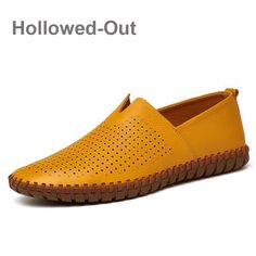 Men s Driving Shoes 2018 Men Genuine Leather Loafers Shoes Fashion Handmade  Soft Breathable Moccasins Flats Slipe On Shoes c3f40c97f8e1