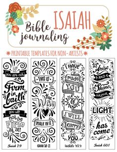 ISAIAH - 4 Bible journaling printable templates