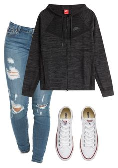 """""""Untitled #36"""" by bellarunhart on Polyvore featuring Converse and NIKE"""