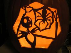 Jack Skellington pumpkin.  I'd like to carve mine like this.  Or something with him in it!