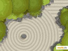 🌸 Zen Garten anlegen- Tipps und Hilfe 🧘♀️ | markt.de #zen #garten #entspannung #harmonie #checkliste
