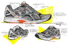 Asics Shoes, Designer Shoes, Sketches, Footwear, Sneakers, Drawings, Industrial Design, Tennis, Slippers