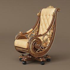 Royal Furniture, Funky Furniture, Home Decor Furniture, Unique Furniture, Luxury Furniture, Furniture Design, Bedroom Bed Design, Home Room Design, Living Room Designs India