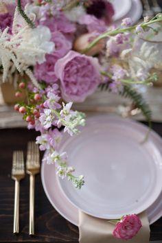 Blush dinnerware collection by Set Maui wedding inspiration