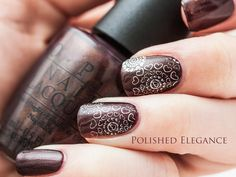 OPI Espresso your style nail polish stamping nail art