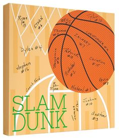 Basketball Signature Canvas Keepsake - have team sign for a special keepsake