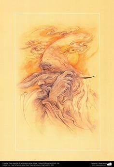 <3<3 El poeta <3<3  Obras maestras de la miniatura persa; Artista Profesor Mahmud Farshchian, Irán