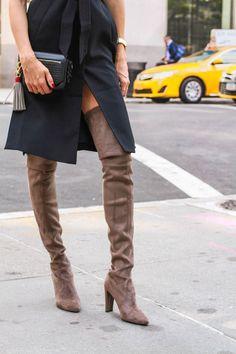 20 Inspiring Ways to Wear High Boots   20 manières de porter des cuissardes #streetstyle