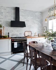 Grey backsplash tile