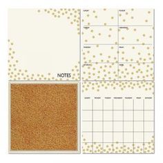 Wall Pops! Organizational Kit - Confetti is a peel-and-stick dry erase calendar, note-taking space, and cork board.
