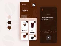 Coffee Ordering App – Make Mobile Applications Ui Design Mobile, Mobile Application Design, Design Café, Web Design Trends, Mobile App Design Templates, Custom Design, Flat Design, Graphic Design, App Design Inspiration
