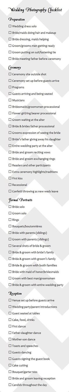 wedding photography checklist best photos - wedding photography  - cuteweddingideas.com