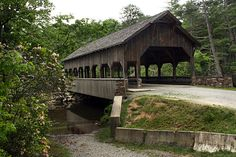 bridge and waterfall | Covered Bridge atop High Falls, DuPont State Forest, Brevard, North ...