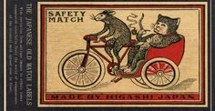 """""""the japanese old match labels"""""""