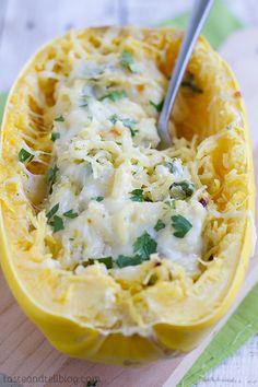 #Recipe: Spinach Artichoke Spaghetti Squash