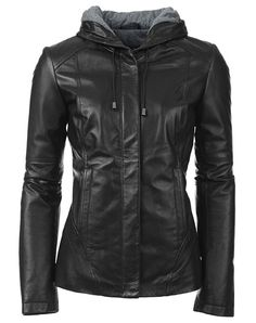 Women stylish black leather jacket women real cowhide leather