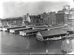 View of the ferry wharves at Circular Quay (NSW)] | by State Records NSW
