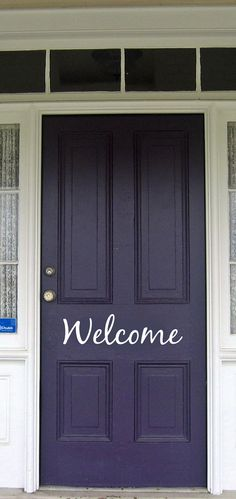 Welcome Front Door Vinyl Sign by TMDecals on Etsy, $6.00