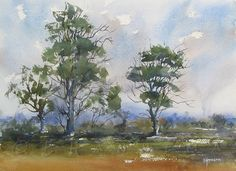 Most paintings are for sale contact me about costs shipping and so on. Watercolor Canvas, Watercolor Trees, Watercolor Artists, Watercolor Landscape, Artist Painting, Artist Art, Painting & Drawing, Watercolor Paintings, Watercolors