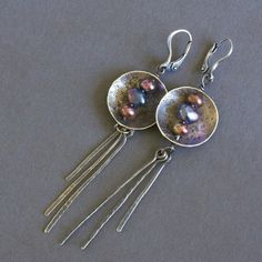 Clever use of beads and metal discs for earrings