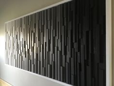 Wood wall art- Black and white art-wood wall sculpture- art-reclaimed wood art-gradient wood art- hospitality art-modern wood art Wall Decor Design, Modern Ceiling Design, Wood Wall Design, Feature Wall Design, 3d Wall Decor, Reclaimed Wood Art, Diy Wood, Wood Wall Art, Wooden Wall Panels