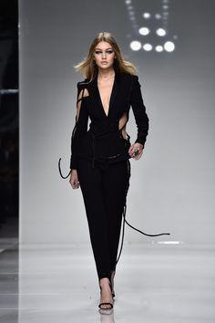 Gigi Hadid Is Back on the Versace Runway — and Boy, Are We Glad. #gigihadid #versace #runway