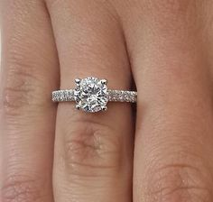 2.00 CT ROUND CUT D/SI1 DIAMOND SOLITAIRE ENGAGEMENT RING 18K WHITE GOLD - EXCLUSIVE DEAL! BUY NOW ONLY $2524.0