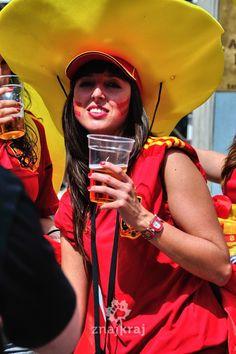 Euro 2012 in Gdansk. Spain vs. Italy.