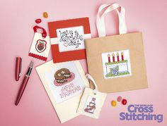 Delicious cross stitch - Sweet Treats Design Library. Enjoy our mouth-watering collection of motifs for easy-make cards, gifts and more - 46 tasty theme ideas, you'll love this chart set, only in The World of Cross Stitching magazine, issue 226