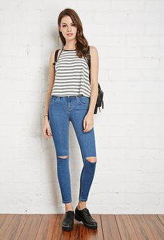 Ripped Skinny Jeans | Forever 21